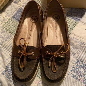 MK boat shoes moccasins